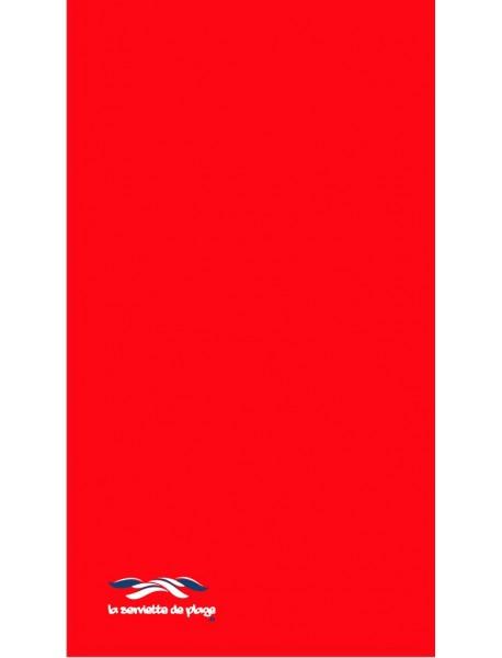 Serviette de bain Uni Rouge