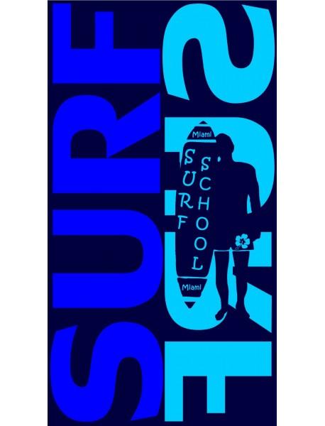 Drap de plage Surf Surf Bleu