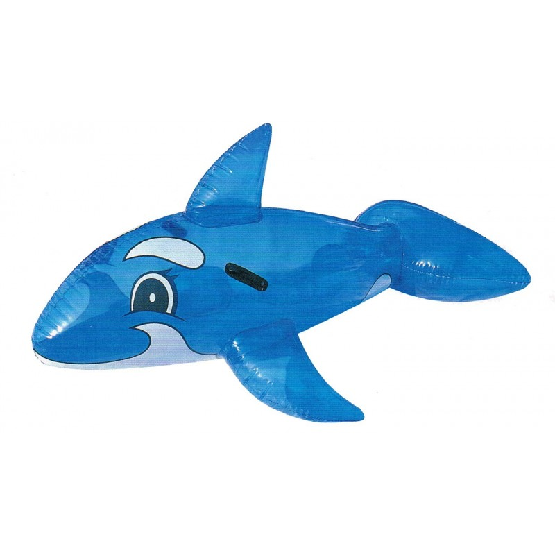 Dauphin gonflable bleu transparent 132cm for Animaux gonflable piscine