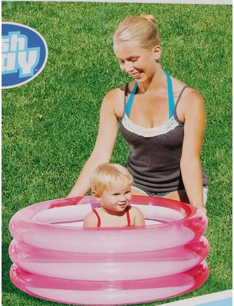 piscine ronde pour bébés 3 boudins 70cm