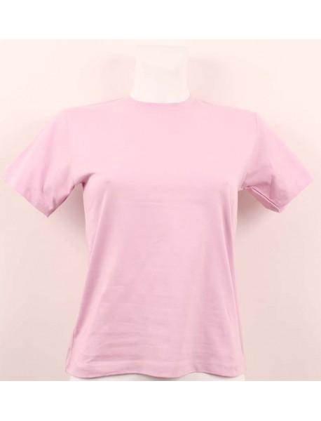T-shirt femme violet col rond