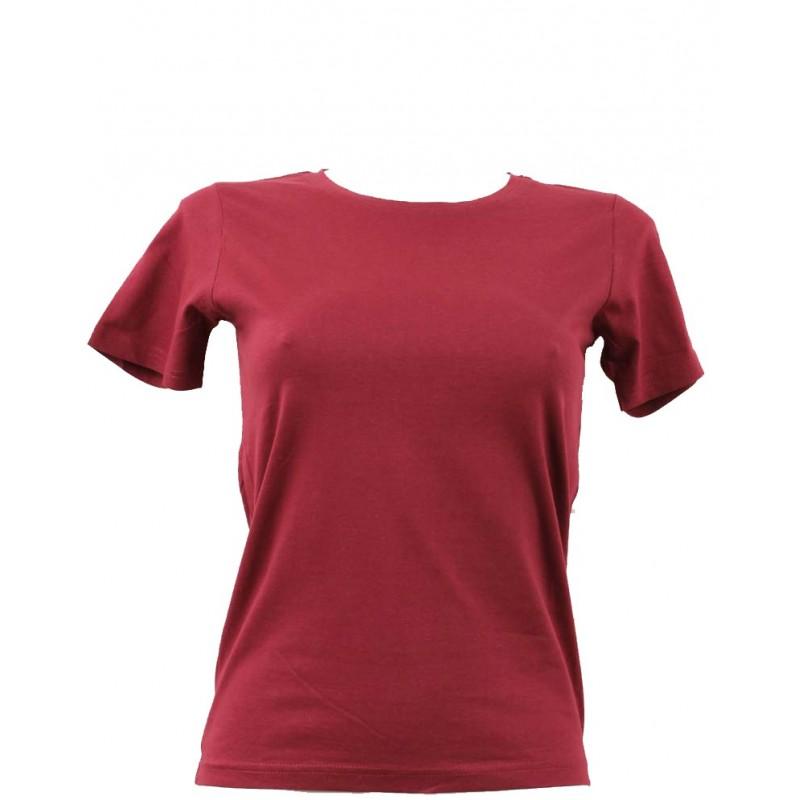 886c8207448 T-shirt femme bordeaux col rond - LaServietteDePlage.fr
