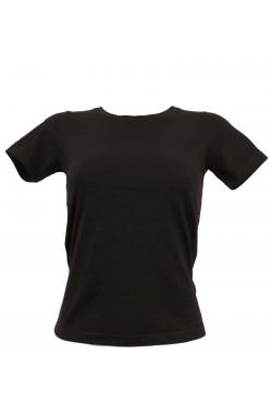 T-shirt femme noir col rond