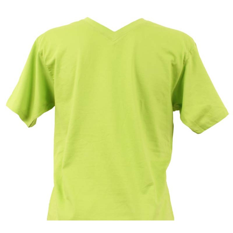 T-shirt homme vert col V - LaServietteDePlage.