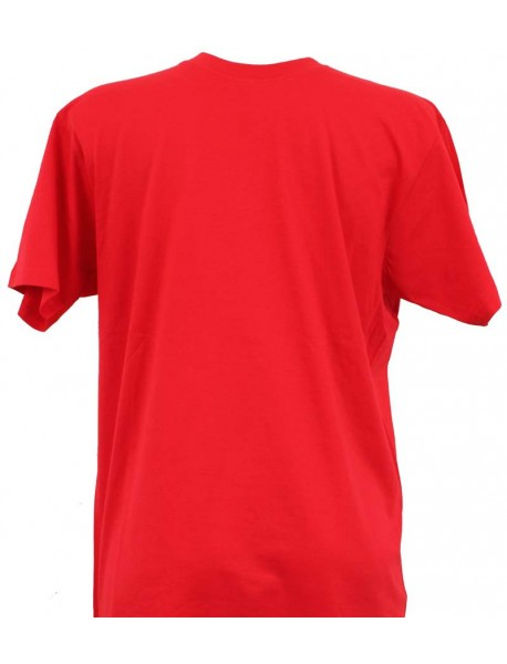 T-shirt homme rouge col rond