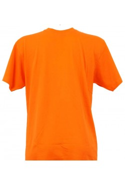 T-shirt homme orange col rond