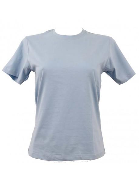 T-shirt femme bleu ciel col style en rond