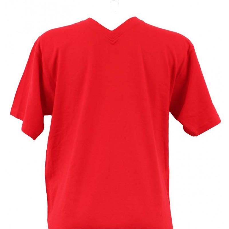 t shirt homme rouge col v. Black Bedroom Furniture Sets. Home Design Ideas