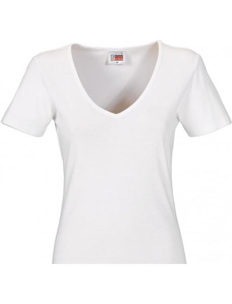 T-shirt femme blanc col en V