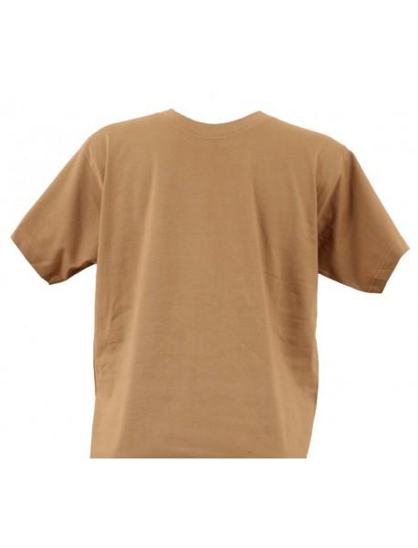 T-shirt homme caramel col rond