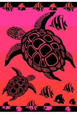 Grand drap de plage Funny Turtle