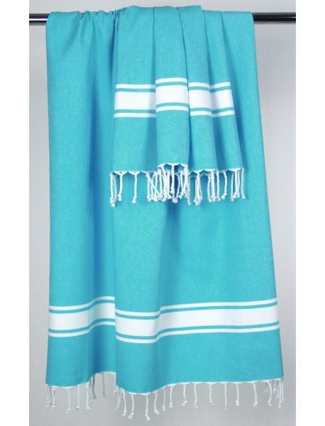 Fouta Toile Turquoise