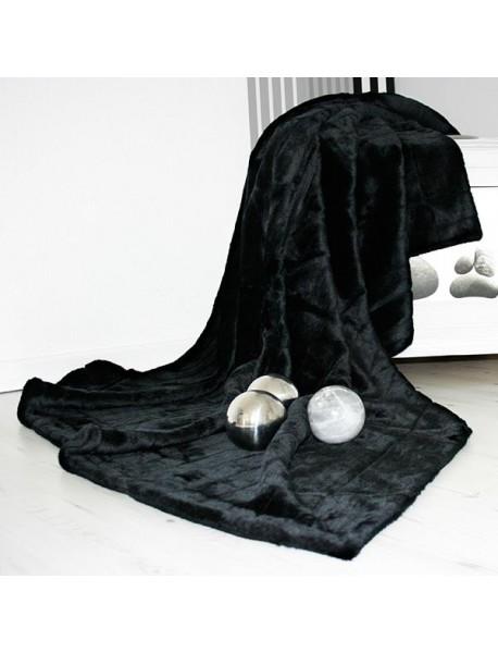 Plaids fourrure Noir