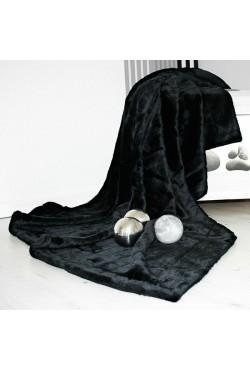 Couverture Polaire Fourrure Noir