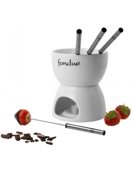 Service à fondue chocolat, blanc