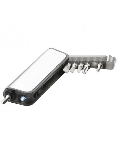 Mini set Tournevis avec lumière clignotante 7 fonctions Reno Argent