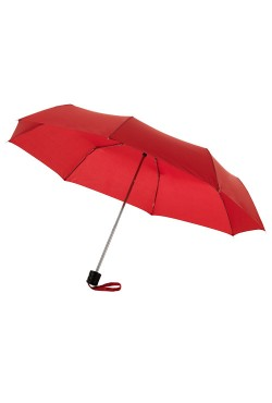 "Parapluie 21.5"" - 3 sections, rouge"