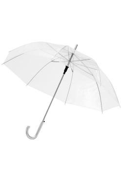 "Parapluie automatique transparent 23"", blanc translucide"