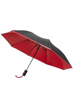 """Parapluie 21 """" pliant 2 sections automatique Spark, noir / rouge"""