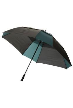 """Parapluie double couche 30"""" carré, vert foncé / noir"""