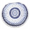 Serviette de plage ronde Windy Blue