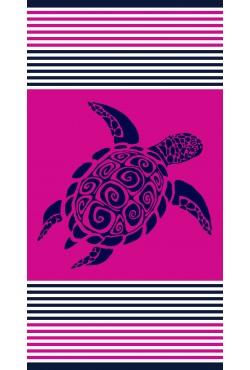 Serviette de plage Cirali Fuchsia Turtle