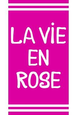 Drap de plage La vie en rose