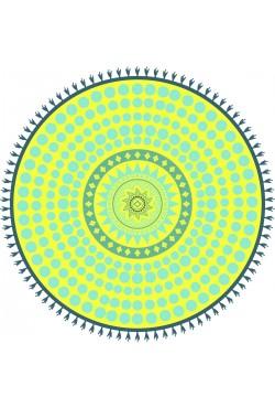 Serviette ronde Microfibre Kolo