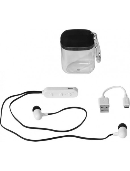 Oreillettes Bluetooth® Budget avec boîtier à mousqueton