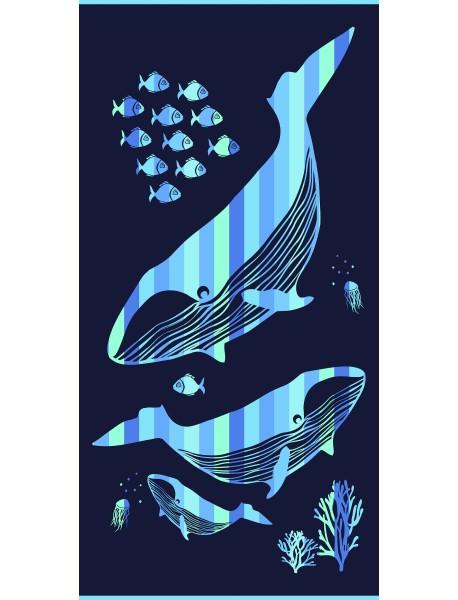 Drap de plage Whale